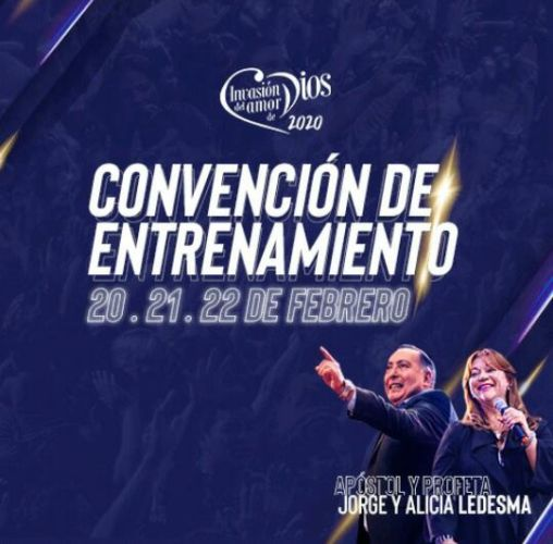 Convención de Entrenamiento para Invasión del Amor de Dios 2020