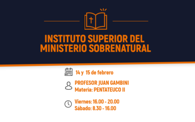 Inscripción Abierta al ISMS (Instituto Superior del Ministerio Sobrenatural)