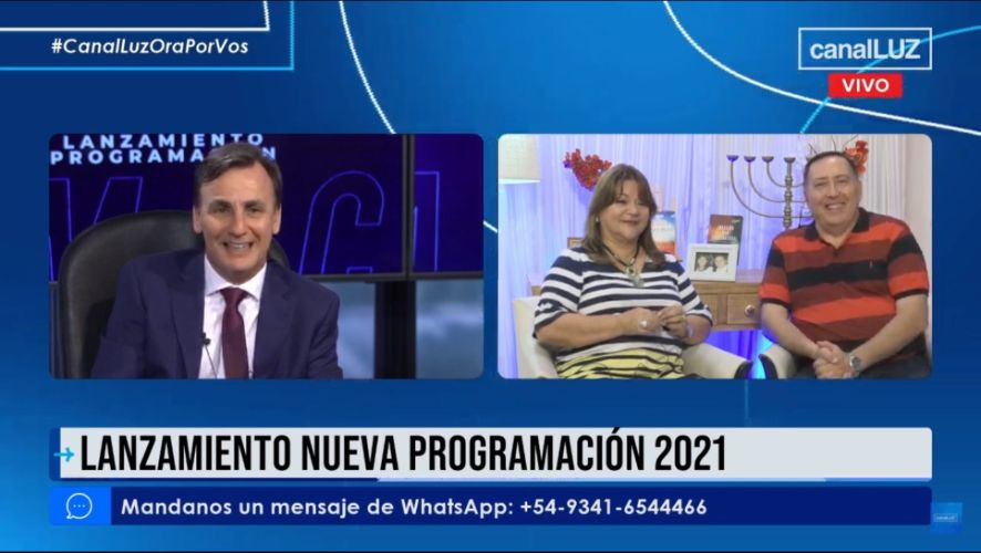 Los pastores Ledesma participaron del lanzamiento programación Canal Luz 2021