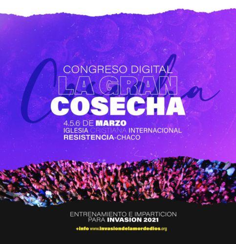 """Invasión: ¡Se viene el gran congreso digital """"La gran cosecha"""" 2021!"""