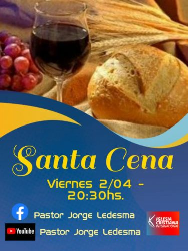 Santa Cena este viernes en la iglesia